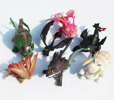 How to Train Your Dragon 7pcs Action Figures Set: Toothless Night Fury Nadder