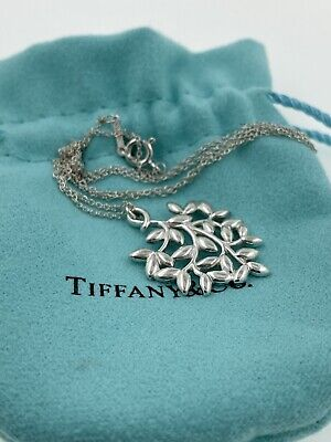 Tiffany & Co Olive Leaf Pendant In Sterling Silver By Paloma Picasso