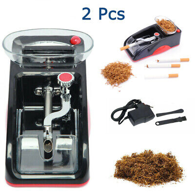 Electric Automatic Tobacco Cigarette Rolling Roller Injector Maker Machine Red