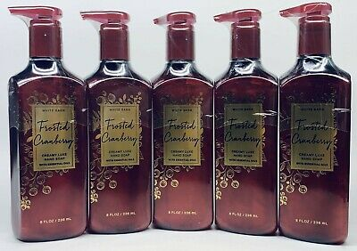 5 Bath & Body Works FROSTED CRANBERRY Creamy Luxe Hand Soap