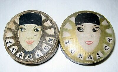 Art deco decoration Vintage TOKALON Bulgaria1Empty box and1with face powder rare