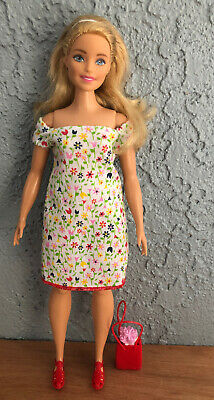 Ooak Curvy Barbie Doll In Clothes And Shoes Lot