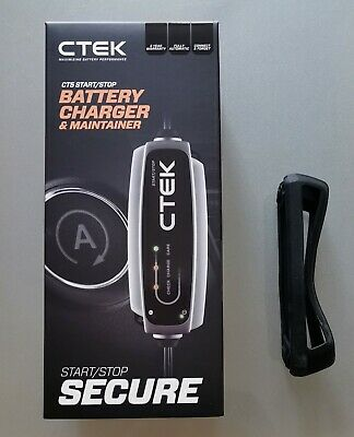 CTEK CT5 Start / Stop 40-106 Charger & bumper case. AGM and Lead Acid.
