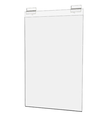 """Ad Frame with Double Slatwall Attachment 11""""W x 17""""H Clear Acrylic"""