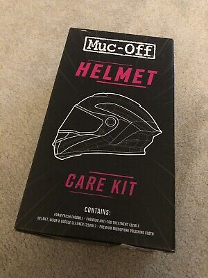 Muc-off Helmet Care Cleaning Box Anti-Fog, Cleaner, Cloth & Foam Fresh ( Bike