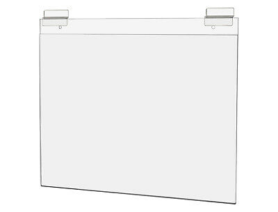 """Ad Frame with Double Slatwall Attachment 14""""W x 11""""H Clear Acrylic"""