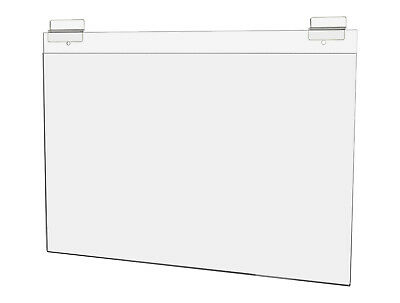 """Ad Frame with Double Slatwall Attachment 17""""W x 11""""H Clear Acrylic"""