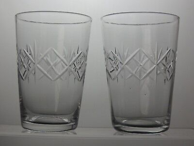 Cut Glass Crystal Whiskey Tumblers Set Of 2
