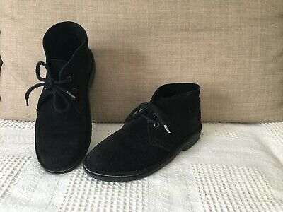 BOYS ROAMERS BLACK LEATHER SCHOOL SHOES SIZE UK 1-6 YOUTHS LACE UP B071A KD