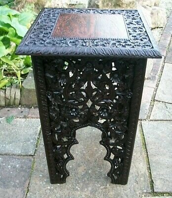 Beautiful  Large Antique  Fully Carved  Anglo/ Indian  Side Table