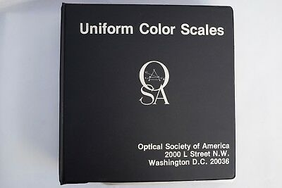 Optical Society of America Uniform Color Scales Book Album Chart Guide / Munsell