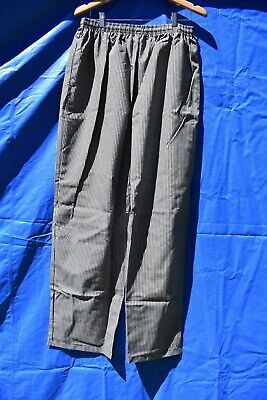 Chefs pants elastic waist with draw string