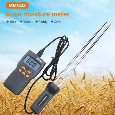 Grain Moisture Temperature Meter Tester LED display backlight for rice paddy
