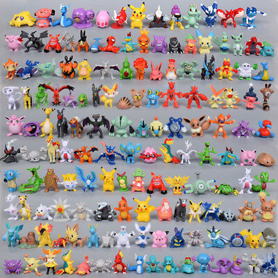 144pcs Pokemon Pocket Monster Action Figures Random Character Toys No Repeat