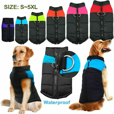 Pet Dog Vest Jacket Warm Waterproof Clothes Winter Padded Puppy Coat S-3XL USA
