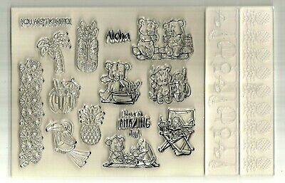 Teddy Bear Stamps, Embossing Folders, Cards & Envelopes.