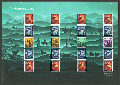 Gb 2019 Christmas Nativity Generic Collectors Sheet Mnh