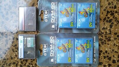 5 x NEW UNOPENED Mini DV Tapes & 1 X Head Cleaning Cassette