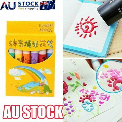 Magic Popcorn Pen - Magic Colour DIY Bubble Popcorn Drawing Pens 6PCS/set MN