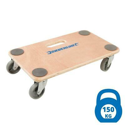 Silverline Wheeled Platform Vehicle Dolly 150kg Load Capacity - Furniture Mover