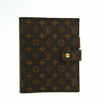 Louis Vuitton Monogram Agenda GM Day Planner Notebook Cover R20106 LV Used Ex