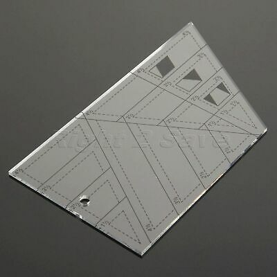 DIY Tailor Sewing Tool Fabric Measure Trapezoid Patchwork Drawing Quilting Ruler