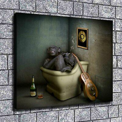 """12""""x14""""Naughty little monkey HD Print on Canvas Home Decor Picture Room Wall"""