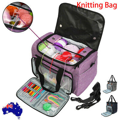 Crochet Knitting Tote Bag Yarn Storage Bag for Small Unfinished Projects  Hooks