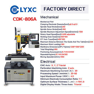 SFX CNC Control EDM Small Hole Drilling Machine 3 Axis With Warranty