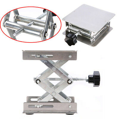 Silver Stainless Steel Lab-Lift Lifting Platform Stand Rack Scissor Jack Rack