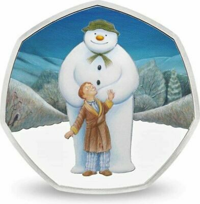 BRAND NEW THE SNOWMAN AND JAMES 2019 UK 50p Silver Proof Coin - RARE LOW MINTAGE