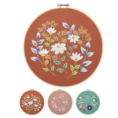 DIY Ribbon 3D Cross Stitch Lightweight Floral Pattern Gift Decoration By Hand