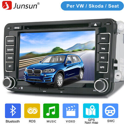 2din Autoradio DVD GPS Navi FM Bluetooth per VW Golf PASSAT TOURAN TIGUAN POLO