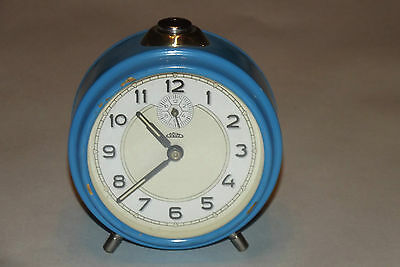 Antique Alarm Clock Mechanical Années 70 Vintage 1970 Deco Design Loft / Clock