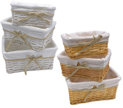 Wicker Storage Basket Birthday Christmas Xmas Greeting Gift Hamper Box S-M-L-X L