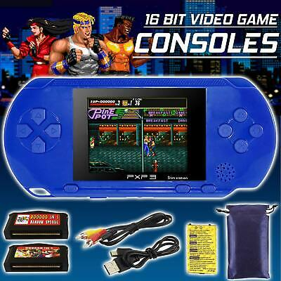 16 Bit Handheld Portable Video Game Console PXP3 Retro Games For Kids Gift