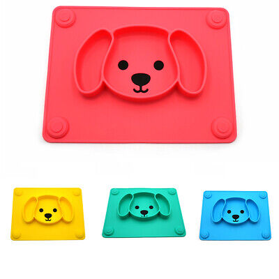 Puppy Shape Tableware Suction Portable Child Feeding Baby Placemat Reusable Cute