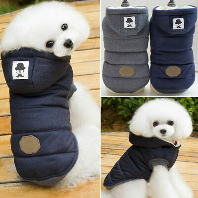 Pet Small Dog Puppy Warm Coat Jacket Hoodie Thick Apparel Outwear Clothes S-XXL