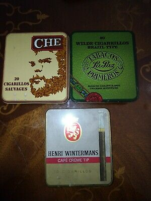 3 Box Tin Tobacco that Sanvages 20 Cigarillos Rarissimi Playable 10,8 x 9,6