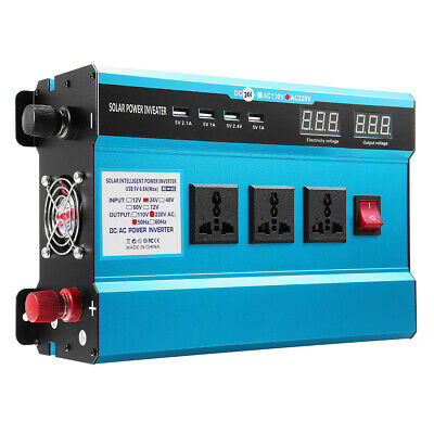 3000W Solar Inverter Voltage Dispaly 12/22V DC To 220V AC Power Inverter 3 AC