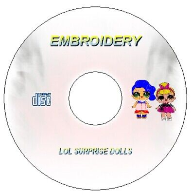 Lol Surprise Dolls 6 Machine Embroidery Designs Download / Cd In Pes Hus Jef