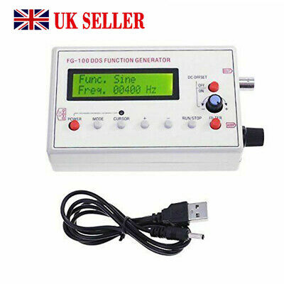 DDS Function Signal Generator Sine+Triangle + Square Wave Frequency 1HZ-500KHz
