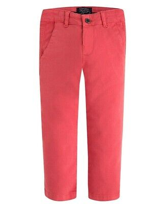 NWT Mayoral Boys Sizes 3-4-5-7-8 Coral Red Chino Trouser Pants #513