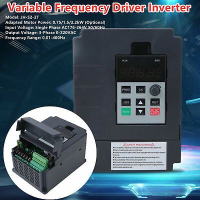Variable Frequency Inverter Drive Universal Mini Single Phase to 3Phase VFD New