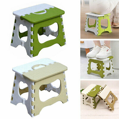 Foldable Multi Purpose Fold Step Stool Plastic Home Kitchen Easy Storage Plastic