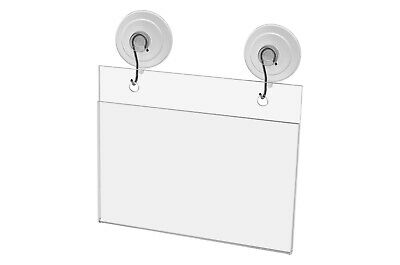 "Ad Frame Sign Holder Wall Mount 5 1/2""W x 3 1/2""H with Hooks and Suction Cups"
