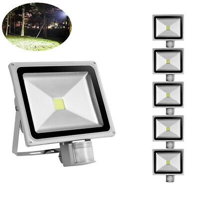 LED Floodlight 10//50W//100W//500W PIR Motion Sensor Outdoor Security LIGHT IP65 UK