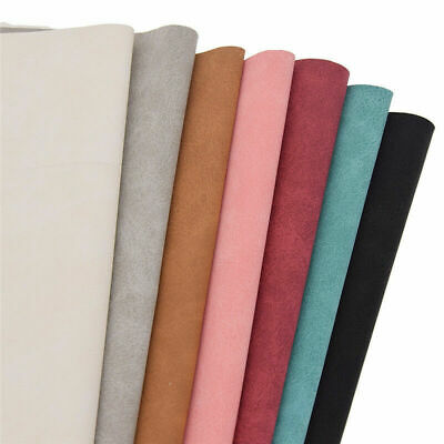 A4 Sheet Faux Suede Leather Fabric Bag Wallet Making DIY Sewing Handcraft Lots