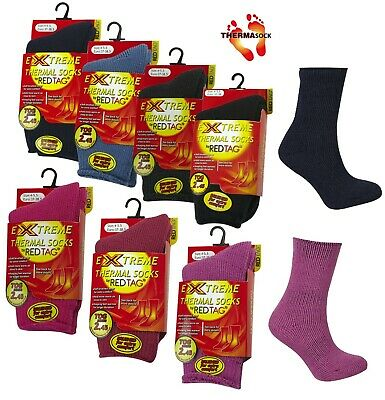 KIDS GIRLS BOYS WELLY SOCKS CUTE SKI SNOW THERMAL SOCKS 4 DESIGNS SZ  9-3.5