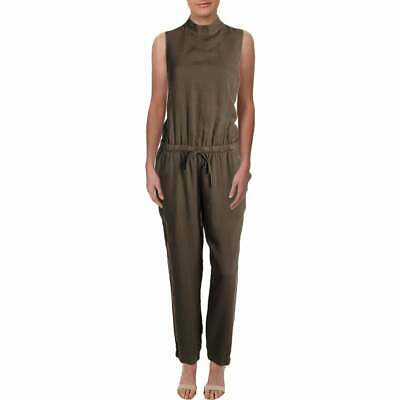 Bella Dahl Women's Tencel Slit Back Every Day Jumpsuit Army Olive | LARGE